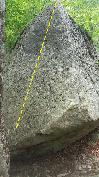 Rock Climbing Photo: Triangular Boulder, Unknown Slab.