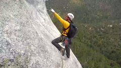 Rock Climbing Photo: Beginning the 2nd pitch of El Whampo at Tahquitz R...