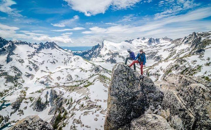 Rock Climbing Photo: Summit of Prusik Peak