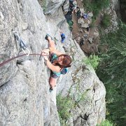Rock Climbing Photo: 5.9 multipitch in Boulder Canyon