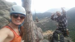 Rock Climbing Photo: at the top of White Whale, 5.7 trad route in Lumpy...