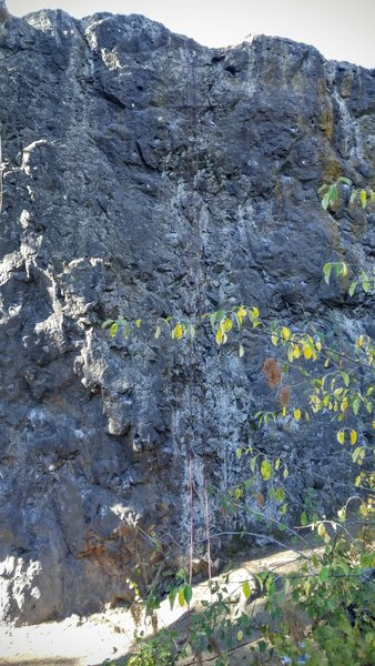 Rock Climbing Photo: You can just barely see the rope.