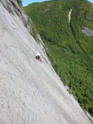 Rock Climbing Photo: Vincent Coursol leading Pitch 2. September 5th, 20...