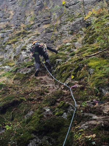 Rock Climbing Photo: Reasonable Richard lower section during 2016 clean...
