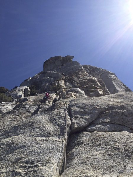 Rock Climbing Photo: Jensen's Jaunt 5.6 First pitch trad lead
