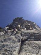 Rock Climbing Photo: Jensen's Jaunt 5.6 First pitch trad lead