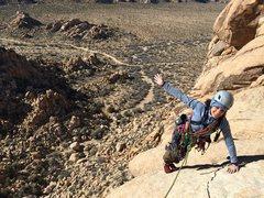 Rock Climbing Photo: The Swift, 5.7 Joshua Tree