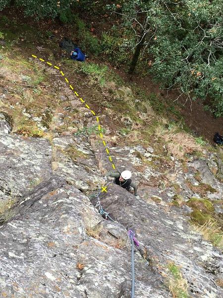 Rock Climbing Photo: Upper, vertical 15 meters of Reasonable Richard af...