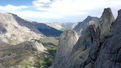 Rock Climbing Photo: Belay station on Wolfs head.