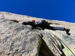 Rock Climbing Photo: Pitch 1. Here Jeff is just above the cruxy start m...