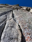 Rock Climbing Photo: Pitch 2. Looking up the finger crack on Pitch 2. T...