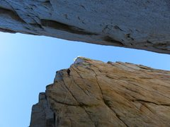 Rock Climbing Photo: Rappeling into the gully below the south face of O...