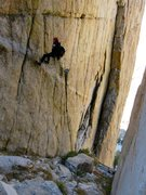 Rock Climbing Photo:  If you look closely at the photo, the tails of ou...