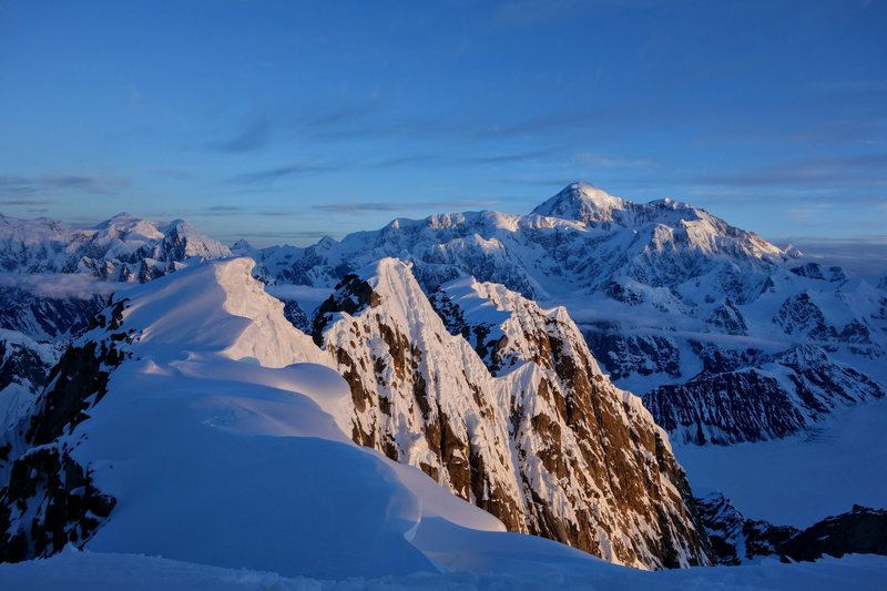 Rock Climbing Photo: Denali as seen from the summit ridge of Moose'...