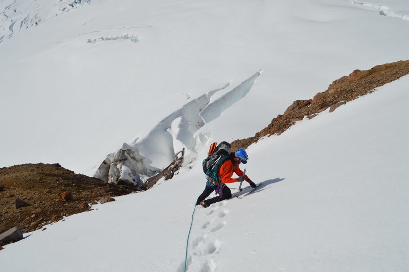 Rock Climbing Photo: Descent to the Lower Emmons