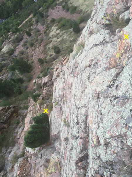Looking down at the Juniper Ledge.