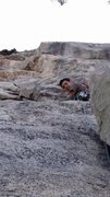 Rock Climbing Photo: start of the second pitch leading to the under cli...
