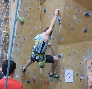 at the secondary school climbing comp 2016 in Christchurch.