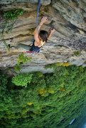 Rock Climbing Photo: @kaufmanntaylor on the final moves of Madame Grunn...