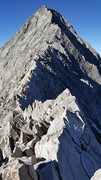 Rock Climbing Photo: The knife edge and Capitol's summit.