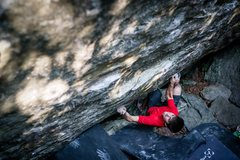 Rock Climbing Photo: On the sit start