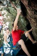 Rock Climbing Photo: Hard first move