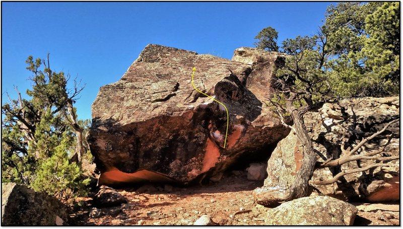Rock Climbing Photo: Cock Block.