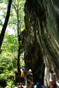 Rock Climbing Photo: Dylan sending Fight Club with the peanut gallery n...