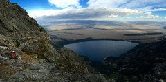 Rock Climbing Photo: Jenny Lake from the beautiful top of Durrance Ridg...