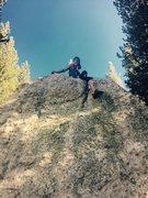 Rock Climbing Photo: Warming up at the knobs
