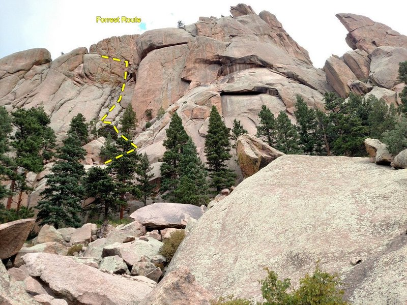 Rock Climbing Photo: Cathedral Spires and the Forrest Route.