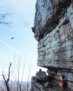 Rock Climbing Photo: led high E first day at gunks