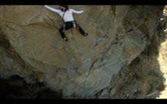 Rock Climbing Photo: Crux of Perro De la Guerra 12c