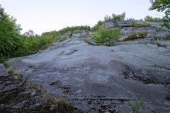 Rock Climbing Photo: Bottom of the Yowza slab. The start is up left.