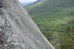 """Rock Climbing Photo: """"Alone on the Wall"""", lonely blue bolt on..."""