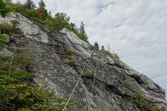 Rock Climbing Photo: Pitch 4, higher up
