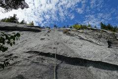 Rock Climbing Photo: Pitch 5, slab variation.