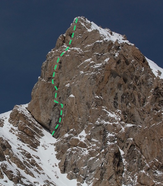Rock Climbing Photo: SW Face Grand Teton: Bean's Shinning Wall of S...