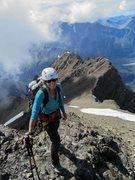 Rock Climbing Photo: Walking up the ridge to Chickenshit then the summi...