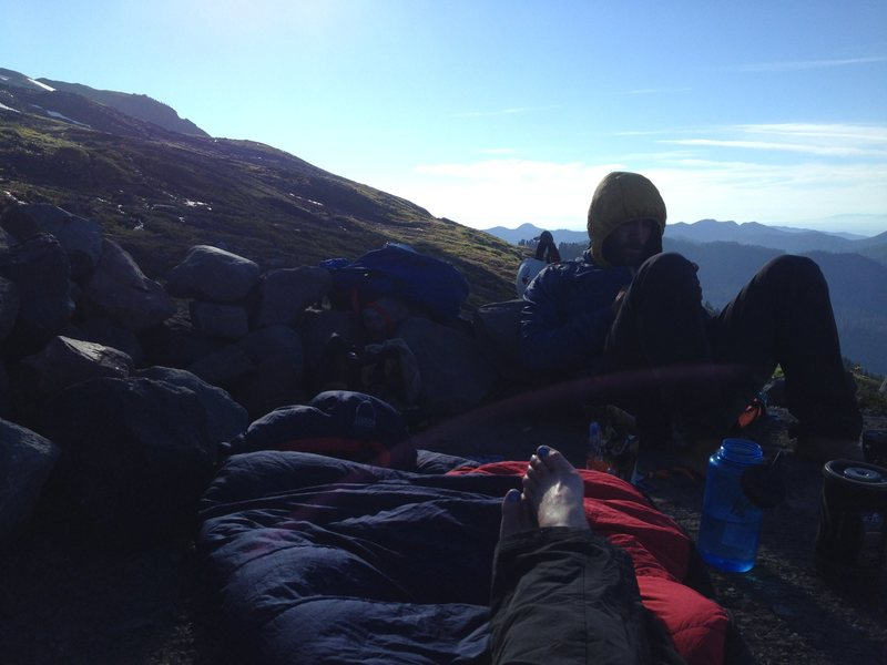 Rock Climbing Photo: I was thrilled to sleep out under the stars at Hog...