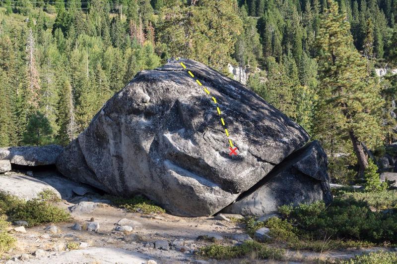 Rock Climbing Photo: Rainbow B Boulder