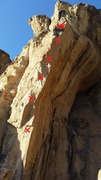 Rock Climbing Photo: The route climbs up the obvious arete.