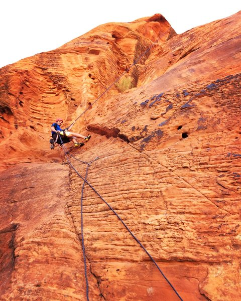 Rock Climbing Photo: Twist and Shout climbs the face to the right of th...