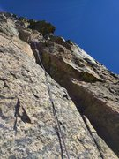 "Rock Climbing Photo: Here is the elusive ""chimney"" on P4. On ..."
