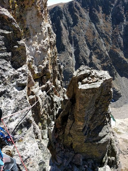 Rock Climbing Photo: Here is a shot from the belay below the elusive P4...