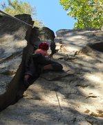 Rock Climbing Photo: The lower crack of Banana Hammock. If it hasn'...