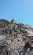 Rock Climbing Photo: Near the end of the Ridge, with the Arete in the d...