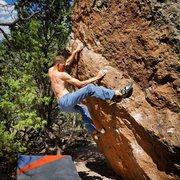 Rock Climbing Photo: Superfluous heel hook