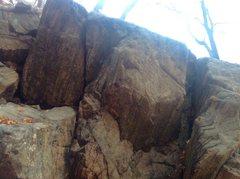 Rock Climbing Photo: Overhanging Awful widths