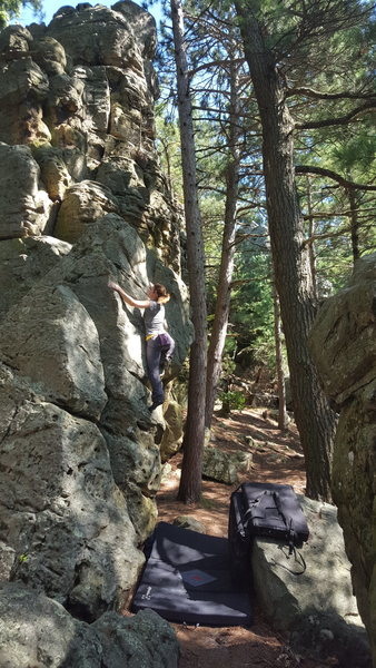 Rock Climbing Photo: A little dicey once you're closer to the topou...